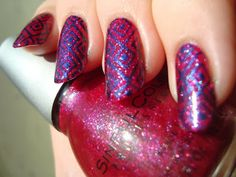 Sinful Colors Got A Blush On You stamped with Sally Hansen Quick Jeanius - Cheeky Jumbo A plate *click for more*