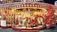 Red & White Delight - Christmas Carousel (1600×902) holidays carnival, xmas, x-mas, merry-go-round, merry go round