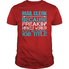 Awesome Tee For Mail Clerk T-Shirts, Hoodies. CHECK PRICE ==► https://www.sunfrog.com/LifeStyle/Awesome-Tee-For-Mail-Clerk-116028228-Red-Guys.html?id=41382
