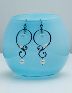 Hand formed oxidized silver curlyqs with by CalliopeBridal on Etsy, $120.00