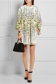 Giambattista Valli | Floral-print cotton-jacquard coat | NET-A-PORTER.COM