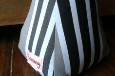Grey Striped Fabric Doorstop by TammyTiger on hellopretty.co.za
