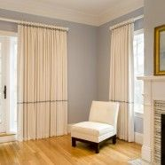 Linen Pleated Draperies: Master Bedroom