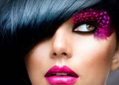 Perfectly Posh, Bold Lips, Pink Lips, Hairstyles Haircuts, Cool Hairstyles, Makeup Backgrounds, Brunette Models, Simple Makeup, Portrait