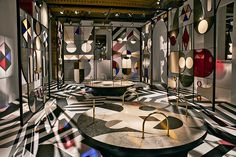 jaime hayon crafts kaleidoscopic pavilion for caesarstone within a milanese palazzo