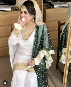 Uploaded by ماھم. Find images and videos on We Heart It - the app to get lost in what you love. Pakistani Engagement Dresses, Pakistani Wedding Outfits, Pakistani Bridal Dresses, Pakistani Wedding Dresses, Pakistani Dress Design, Bridal Outfits, Pakistani Mehndi, Sikh Wedding, Indian Outfits
