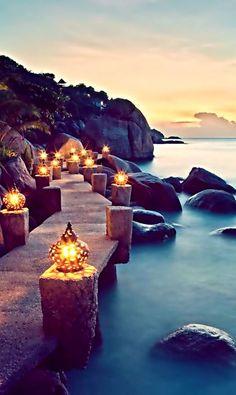 Take a Walk on the Lantern Walkway, Thailand