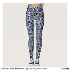 Cool Blue Acid Adventure Rave Love Leggings
