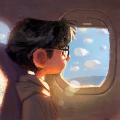 Gabriel Soares - character design, boy with glasses Ps Wallpaper, Arte Peculiar, Character Art, Character Design, Animation 3d, Color Script, Visual Development, Cute Illustration, Character Illustration