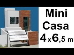 Tiny house, or mini Sobrado, a low cost construction due to its size, occupies little space on the ground, but has integrated spaces. Small House Interior Design, Modern House Design, Architect House, Architect Design, Mini House Plans, Duplex House, Apartment Plans, Townhouse, Tiny House