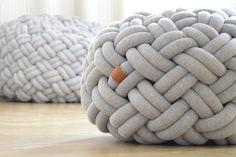 knotty floor cushions by kumeko