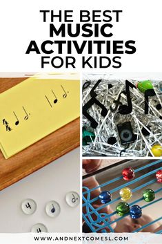 Art therapy activities for toddlers If youre looking for music activities for kids, then youll love these ideas! Theres music sensory bin ideas for toddlers and preschoolers, printable music theory games, music crafts, and so much more! Music For Toddlers, Movement Activities, Educational Activities For Kids, Art Therapy Activities, Toddler Activities, Kids Music, Music Teachers, Preschool Music Activities, Toddler Games