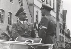 Gauleiter Münich Adolf Wagner with Hitlerjugend officers (Artur Axmann?)