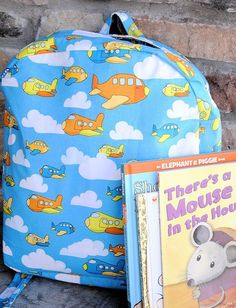 For the toddler on the go, a cute and easy backpack from Crazy Little Projects.