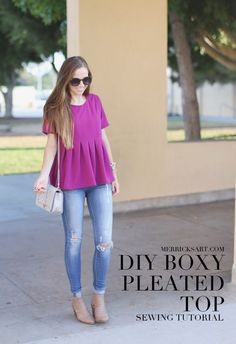 Merrick's Art // Style + Sewing for the Everyday Girl: DIY FRIDAY: BOXY PLEATED TOP SEWING TUTORIAL