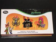 Zootopia Limited Edition 800 Pin Set (free ship) Disney Store, Disney Pins For Sale, Disney Collectibles, Zootopia, Walt Disney, Free Shipping, Gaming