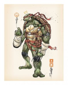Leonardo - Michaelangelo - Donatello - Raphael Splinter - Shredder - April O'Neil - Casey Jones -...