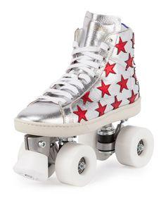 #SaintLaurent Court Classic Rolles Skate Sneaker.