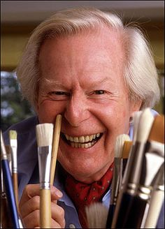 The much loved Tony Hart (1925 – 2009) was an English artist and children's television presenter. He was an officer in a Gurkha regiment but became famous for being a children's presenter and artist on television shows such as Vision On, Playbox, Take Hart and Hartbeat, often accompanied by Morph. He also created the Blue Peter ship logo.