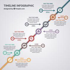 Cronología infográfica de curriculum Vector Gratis