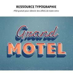 #ressource : #typographie #retro années 50 - années 60