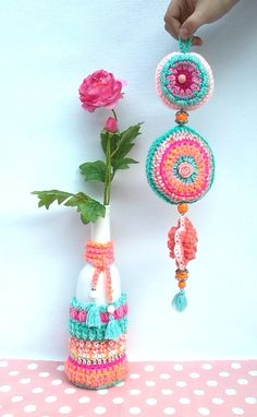 Deurhanger SuikerSpin.  Inspiration.   Love the ornament