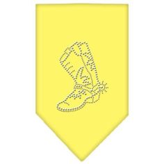 Boot Rhinestone Bandana Yellow Small