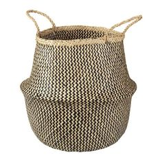 "Laundry Basket .... IKEA - FLÅDIS, Basket, seagrass/black, 14 5/8 "", , You can choose how you want to use this basket – turned up with handles or turned down to display the contents.Storing your belongings in baskets makes it easier to be organized and find what you're looking for.Each basket is woven by hand and is therefore unique."