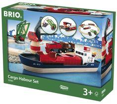BRIO 33061 - set de tren, puerto de carga.+3 años, IndalChess.com Tienda de juguetes online y juegos de jardin