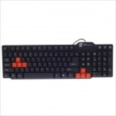 R8 KB-318 USB Wired 104-Key Gaming Keyboard - Black + Orange (150cm-Cable) $24.65