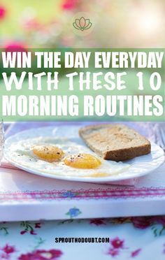 """Have you ever heard the phrase """"If you win the morning, you win the day. Stress Relief Meditation, Stress Relief Tips, Daily Meditation, Daily Health Tips, Health Goals, Health And Wellness, Morning Habits, Morning Routines, Depression Recovery"""