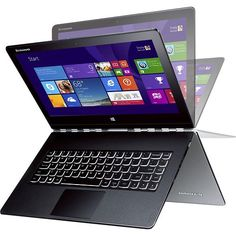 "Lenovo - Yoga 3 Pro 2-in-1 13.3"" Touch-Screen Laptop - Intel Core M - 8GB Memory - 512GB Solid State Drive - Silver - Larger Front"