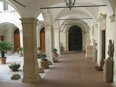 Abbey of Monte Cassino Garden Landscape Design, Garden Landscaping, Cathedrals, Temples, Museums, Italy, Places, Front Yard Landscaping, Italia