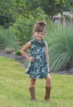 Camo Dress, Dress, Cowl neck dress, online shopping, Online boutique, boutique, ootd, fashion, Style, Little Girls Boutique, Ryleigh Rue Clothing