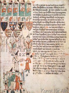 Art Print, Canvas on Stretcher, Framed Picture Renaissance, Value Painting, Nautical Flags, Plantagenet, Museum, Illuminated Manuscript, Coat Of Arms, Medium Art, Middle Ages