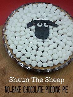 Shaun The Sheep No-bake Chocolate Pudding Pie