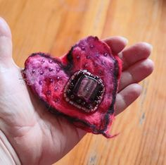 Excited to share the latest addition to my #etsy shop: Heart felted hair jewelry clip textil art brooch fiber art flower hairbun boho style boheimian accessory unique gift http://etsy.me/2DHyzHU #art #fiberart #red #birthday #valentinesday #pink #redhearthairclip #hear
