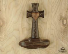 Bible Cross® Wall Holder Highly Figured Claro by BelieveCross