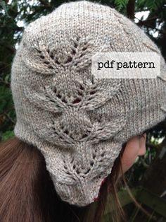 eight tiny reindeer  ear flap hat knitting pattern por dmwKnits