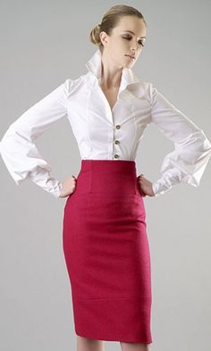 steinerkd:  Thursday theme: Pencil skirts Classy yet very sensual and feminine, powerful and confident. Long or short the pencil skirt is hard to match. Simple, strict and very professional looking. Classy and a bit sexy office wear?