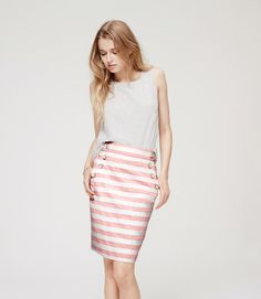 Thumbnail Image of Primary Image of Striped High Waist Sailor Pencil Skirt