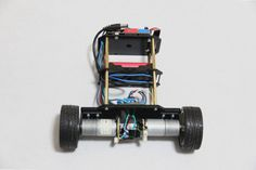 Picture of Add electronic modules and batteries on the robot.