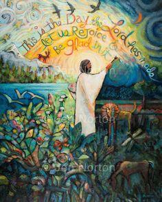 A gallery of popular Catholic artwork by Jen Norton. Scripture Art, Bible Art, Catholic Art, Religious Art, Corporal Works Of Mercy, Large Art Prints, Religion Catolica, Prophetic Art, Biblical Art