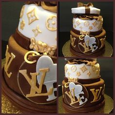 Louie Vuitton Themed cake. Www.itsasweetthingdesserts.com