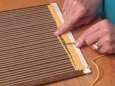 After you finish your first length of yarn in basic weave, this will show you how to begin a new length of yarn.