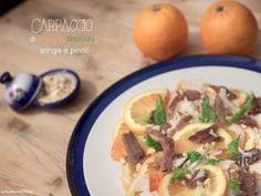 Carpaccio di arance, finocchi e aringa