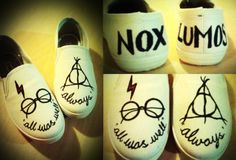 HARRY POTTER Inspired Customised Canvas Shoes by MadeintheBurrow