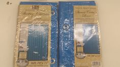 2 Pack Vinyl Shower Curtain Light Weight 3 Gauge Liner Bright Solid Colors | eBay