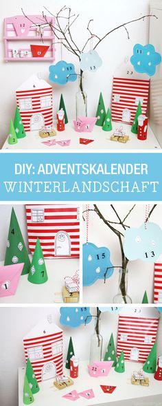 Adventskalender als Winterlandschaft arrangieren: Wir zeigen Dir, wie's geht / diy inspiration for an advents calendar via DaWanda.com