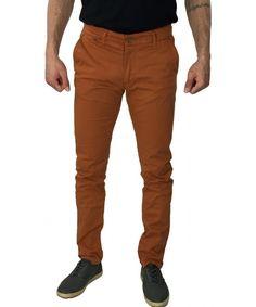 Πορτοκαλί chinos παντελόνι 1002B #ανδρικάπαντελόνια #υφασμάτινα #μόδα #ρούχα #στυλ #χρώματα Parachute Pants, Khaki Pants, Fashion, Moda, Khakis, Fashion Styles, Fashion Illustrations, Trousers